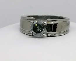 Grey Diamond Solitaire Ring 1.10cts.