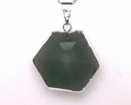 Terminated Point Aventurine Pendant on chain BR 760