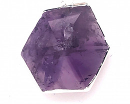 Amethyst Gemstone Terminated Point silver on chain BR 2111