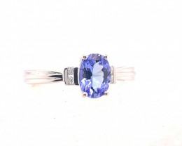 Natural Tanzanite in Silver Princess Ring F18