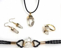 Raw Crystal Lovers 5 piece jelwery set   BR 2146