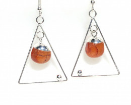 Carnelium Earth Spirt   3 pc Jewlery  Set  Br 2150
