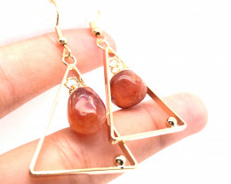 Carnelium Earth Spirt   3 pc Jewlery  Set  Br2154