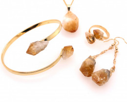 Citrine 5Piece Jewelry set BR 2156