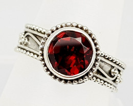 24CT GARNET  925 SILVER HAND MADE RING