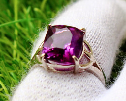 18.40Cts Unheated & Natural ~ Purple Amethyst Silver Ring