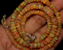 53 Crt Natural Ethiopian Welo Opal Beads Necklace 768