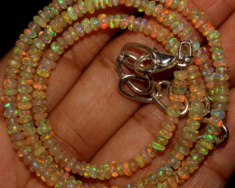 23 Crt Natural Ethiopian Welo Opal Beads Necklace 762