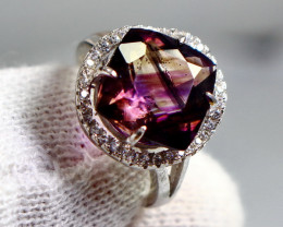 18.30 Cts Unheated & Natural ~ Purple Amethyst Silver Ring