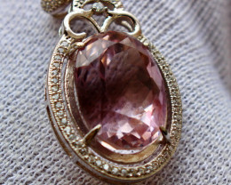 31.90 Cts Unheated & Natural ~ Purple Amethyst Silver Pendant