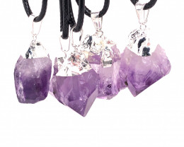 Parcel 11 x Amethyst Terminated Point Pendant BR 775