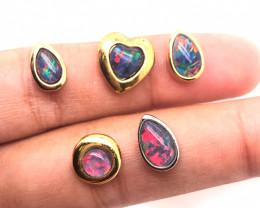 5 Australian  Opal Triplet in pendants  OPJ 2515