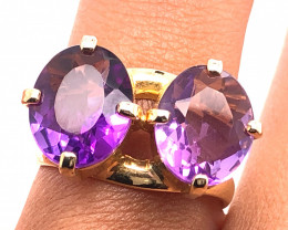 Beautiful Dual Stone l Amethyst Ring  BR 2174