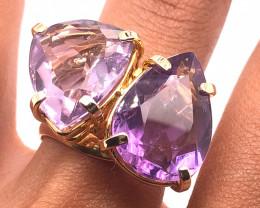 Beautiful Pear Shape Dual  Amethyst Ring  BR 2180