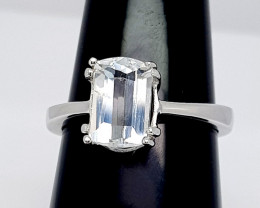 Natural Aquamarine Ring 925 Sterling Silver Ring (NJT26)
