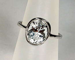 Natural Aquamarine Ring 925 Sterling Silver Ring (NJT27)