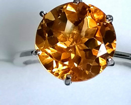 Citrine Solitaire Ring 7.75cts.