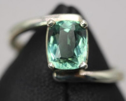 1.75 cts Natural Paraiba Color Tourmaline Transparent Handmade 925 Sterling