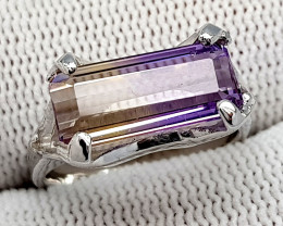 Natural Bolivian Ametrine Beautiful 925 Sterling Silver Ring (NJT47)