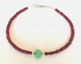 Emerald and Ruby Bracelet 28.50 TCW