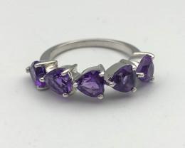 14.72 Crt Natural Amethyst 925 Silver Ring ( RK-5 )