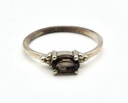7.18 Crt Natural Tourmaline 925 Silver Ring ( RK-5 )