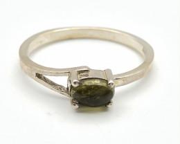 8.07 Crt Natural Tourmaline 925 Silver Ring ( RK-5 )