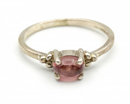 7.55 Crt Natural Tourmaline 925 Silver Ring ( RK-5 )
