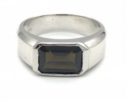 22.27 Crt Natural Tourmaline 925 Silver Ring ( RK-5 )