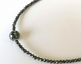 Black Diamond Necklace 36.00 TCW