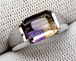 Natural Bolivian Ametrine Beautiful 925 Sterling Silver Ring (NJT49)