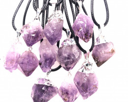 Parcel 11 x Amethyst Terminated Point Pendant BR 834