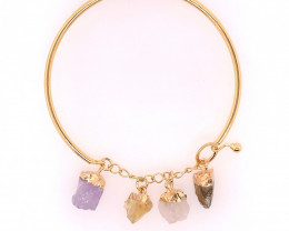 Raw Rock Multi Stone Bracelet  BR 840