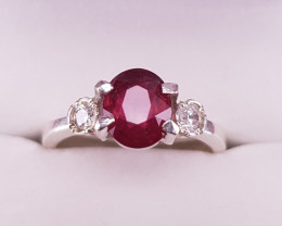 Natural Rubellite  beautiful Ring