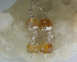 ruittle quartz ~ earring ~ pure silver designs 21.75cts