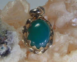 Agate pendent ~ antique stone~ fantasy silver designs 13.60cts