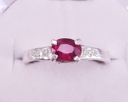 Natural Rubellite Tourmaline  Ring.