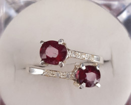 Stunning Rubellite Tourmaline with Silver 925