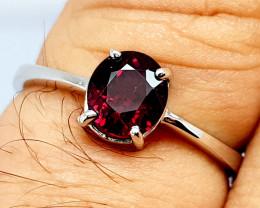 Natural Beautiful Rhodolite Garnet 925 Sterling Silver Ring