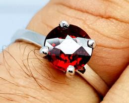 Natural Beautiful Rhodolite Garnet 925 Sterling Silver Ring (NJT63)