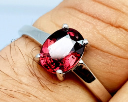 Natural Beautiful Rhodolite Garnet 925 Sterling Silver Ring (NJT64)