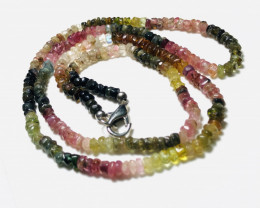 63 Carats Natural Mix Color Tourmaline Necklace