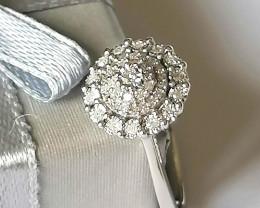 Diamond Cluster Ring 0.20 TCW