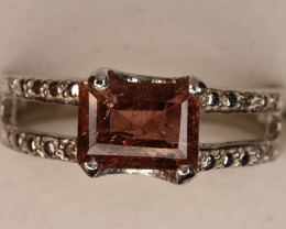 Natural Tourmaline Ring with Silver 925 ( 16.35 Carats )