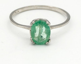 5.19 Crt Natural Emerald 925 Silver Ring