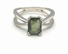 13.85 Crt Natural Tourmaline 925 Silver Ring