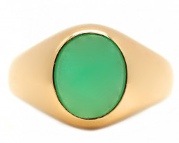 9K Gold Australian Chrysoprase Ring [JR10]