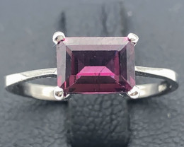 6.90 Crt Natural Rhodolite Garnet 925 Silver Ring