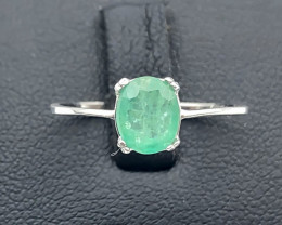 5.07 Crt Natural Emerald 925 Silver Ring