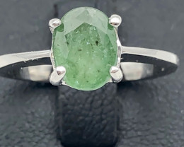 12.92 Crt Natural Emerald 925 Silver Ring
